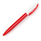 Ручка шариковая, поворотная, корпус белый/красный,стержень синий 0.5 мм