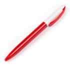 Ручка шариковая поворотная 0,5мм Лого корпус белый/красный стержень синий