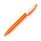 Ручка шариковая поворотная 0,5мм Лого корпус белый/оранжевый стержень синий