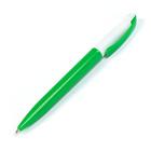 Ручка шариковая поворотная 0,5мм Лого корпус белый/зеленый стержень синий