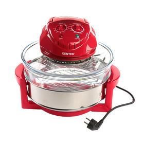 Аэрогриль Centek CT-1456, 12+5 л, 1400 Вт, таймер 90 мин, 2 решетки, красный Ош