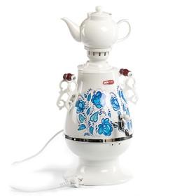 Самовар Centek CT-0091 A, пластик, 4 л, 2100 Вт, LED индикатор, керамический заварник, белый