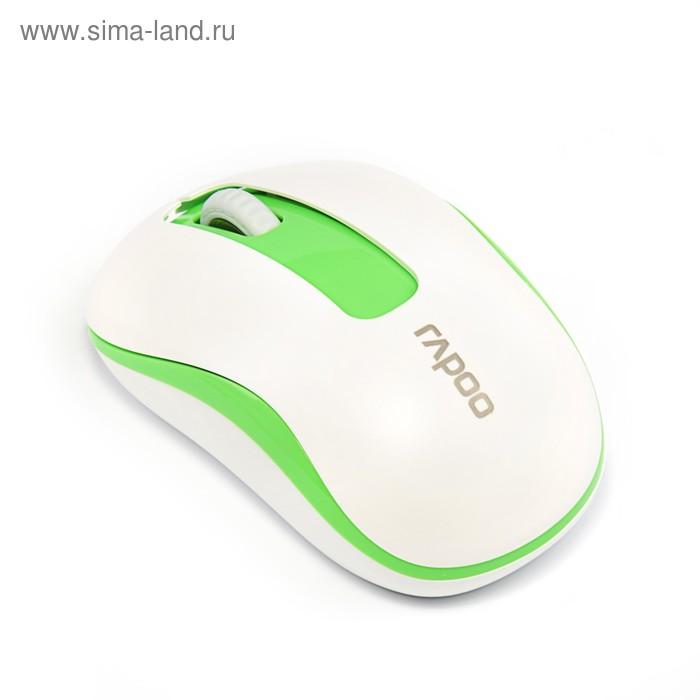 Мышь Rapoo M10, беспроводная, оптическая, 1000 dpi, USB, зеленая