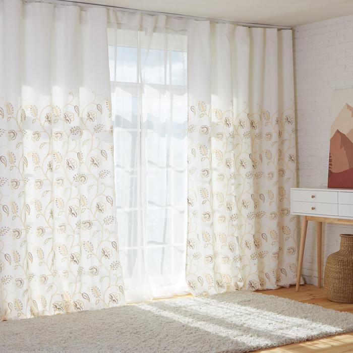 Штора портьерная с вышивкой Этель «Марокко», 150х270 см