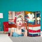 Ширма «Девушка с коктейлем» 200 × 160см
