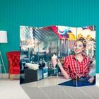 Ширма «Девушка в баре» 200 × 160см
