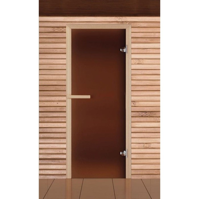 """Дверь для бани и сауны """"Добропаровъ"""", бронза, 6мм, 190х70см"""