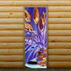 """Дверь для бани и сауны """"Цветы"""", 190 х 70 см, с фотопечатью 6 мм Добропаровъ"""
