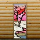 """Дверь для бани и сауны """"Зимняя сказка"""", 190 х 70 см, с фотопечатью 6 мм Добропаровъ"""