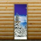 """Дверь для бани и сауны """"Зимний лес"""", 190 х 70 см, с фотопечатью 6 мм Добропаровъ"""