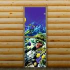 """Дверь для бани и сауны """"Морское дно"""", 190 х 70 см, с фотопечатью 6 мм Добропаровъ"""