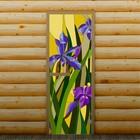 """Дверь для бани и сауны """"Ирисы"""", 190 х 70 см, с фотопечатью 6 мм Добропаровъ"""