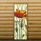 """Дверь для бани и сауны """"Мак"""", 190 х 70 см, с фотопечатью 6 мм Добропаровъ"""