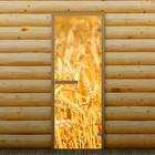 """Дверь для бани и сауны """"Пшеница"""", 190 х 70 см, с фотопечатью 6 мм Добропаровъ"""