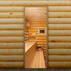 """Дверь для бани и сауны стеклянная """"Полок"""", 190×70см, 6мм, с фотопечатью"""