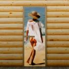 """Дверь для бани и сауны """"Морской отдых"""", 190 х 70 см, с фотопечатью 6 мм Добропаровъ"""