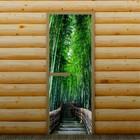 """Дверь для бани и сауны """"Путешествие"""", 190 х 70 см, с фотопечатью 6 мм Добропаровъ"""