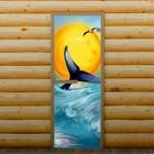 """Дверь для бани и сауны """"Синий кит"""", 190 х 70 см, с фотопечатью 6 мм Добропаровъ"""