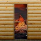"""Дверь левое открывание """"Горная вершина"""", 190 х 70 см, с фотопечатью 6 мм Добропаровъ"""