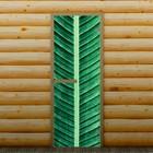 """Дверь левое открывание """"Пальмовый лист"""", 190 х 70 см, с фотопечатью 6 мм Добропаровъ"""