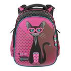 Рюкзак каркасный Hummingbird 39*28*20 для девочки «Кошка», розовый 54Т