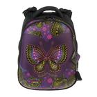 Рюкзак каркасный Hummingbird 39*28*20 для девочки «Бабочка», сиреневый/чёрный 85Т