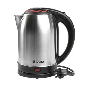 Чайник электрический DELTA DL-1330, 2000 Вт, 2 л, серебристый