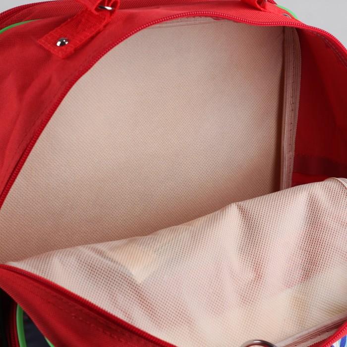 Рюкзак школьный, 2 отдела на молниях, 2 наружных кармана, цвет красный - фото 405942970