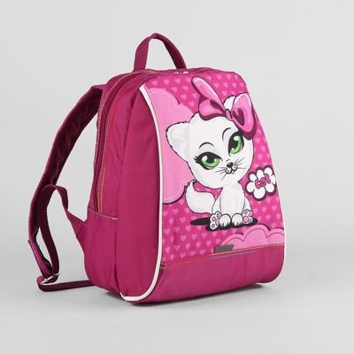 Рюкзак дет 924 20*13*26, 1 отдел на молнии, Киса на розовом