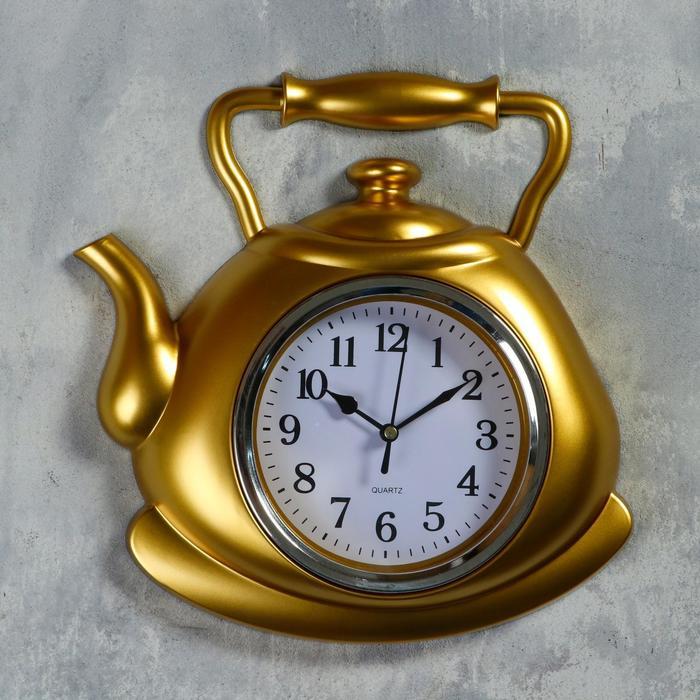 "Часы настенные, серия: Кухня, ""Чайник"" 25х29 см, плавный ход"