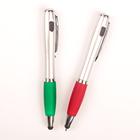 Ручка шариковая-прикол, «Фонарик», с резиновым держателем, со стилусом, МИКС