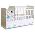 Детская кровать-трансформер «Фея 1100», цвет белый «Слоник на шаре»