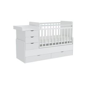 Детская кровать-трансформер «Фея 1150», цвет белый