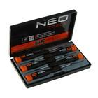 Набор отверток NEO, для точных работ, набор 5 шт., S2 CrMo, намагн. жало, поворотная насадка
