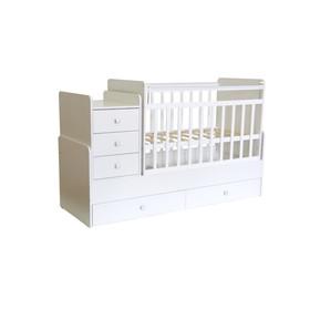 Детская кровать-трансформер «Фея 1100», цвет белый