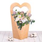 Коробка–сердце «Крафтовое украшение», 46 х 22 см.