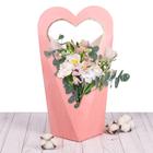 Коробка–сердце «Нежно–розовое настроение», 45 х 22 см.