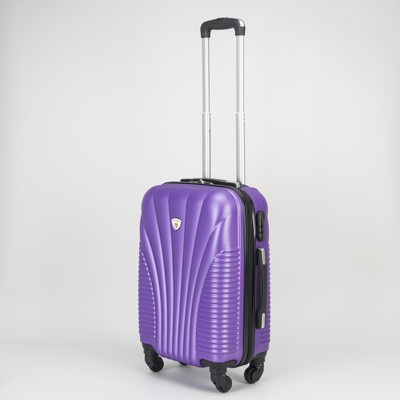 Чемодан малый на молнии, 1 отдел, 4 колеса, кодовый замок, цвет фиолетовый