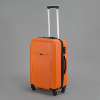 Чемодан средний на молнии, 1 отдел, 4 колеса, кодовый замок, цвет оранжевый