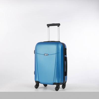 Чемодан малый на молнии, 1 отдел, 4 колеса, кодовый замок, цвет голубой