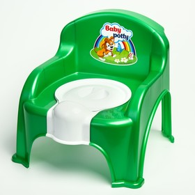 Горшок-стульчик с крышкой, цвет зелёный
