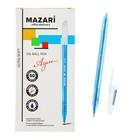 Ручка шариковая MAZARI Azure Ultra Soft, узел 1.0 мм, чернила синие, игольчатый пишущий узел