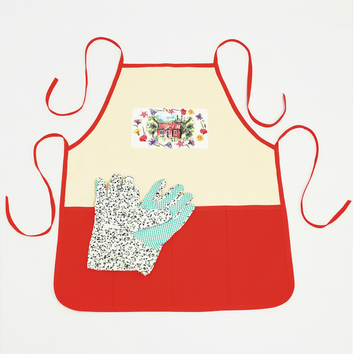"""Набор """"Любимый сад"""" садовый фартук (52 х 62), перчатки"""