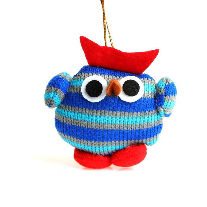Подвеска «Птенчик», в полосочку, цвета МИКС - фото 8443966