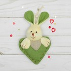 """Soft toy-suspension """"sweetie"""" stitched heart, MIX color"""