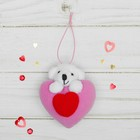 "Soft toy-suspension ""Bear"" double heart, MIX color"