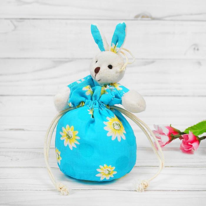 Мешочек с игрушкой «Зайка», с цветочками, цвета МИКС - фото 8876355