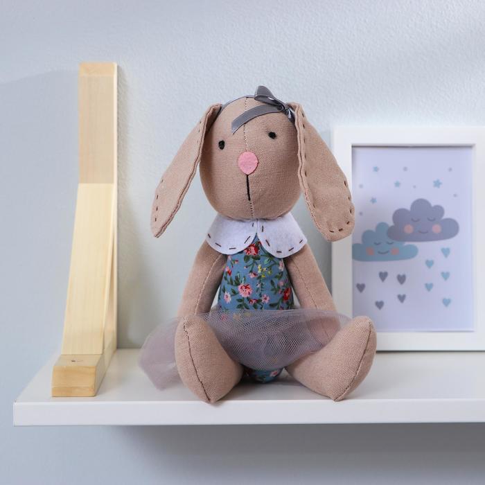 """Мягкая игрушка """"Зайка"""" юбка в сеточку, цвета МИКС"""