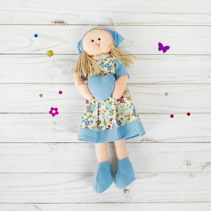 Мягкая игрушка-подвеска «Инна», кукла с сердцем в ручках, цвета МИКС