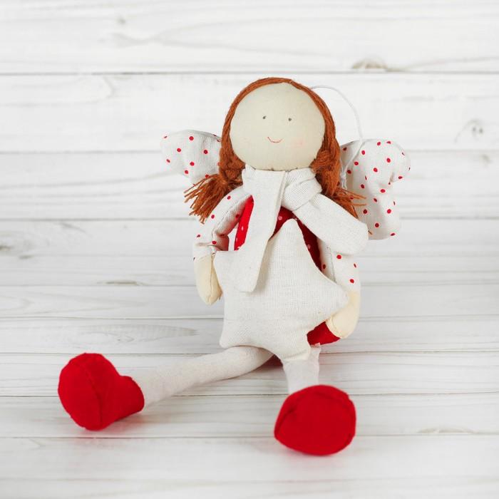 Мягкая игрушка-подвеска «Ангел», крылья в горошек, цвета МИКС